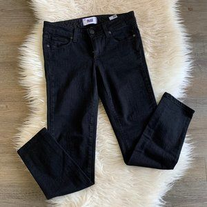 PAIGE Skyline Skinny Jeans in Black